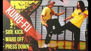 Dao Kung Fu lernen - Side Kicks einfach ausweichen und abwehren
