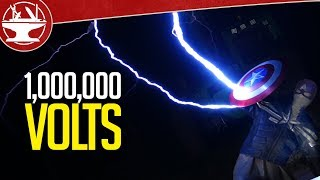 Playing with GIANT TESLA COILS