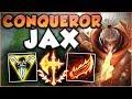 Download Video Download NEW CONQUEROR RUNE + NEW RAGEBLADE = ONE OP JAX! JAX SEASON 8 TOP GAMEPLAY! - League of Legends 3GP MP4 FLV