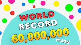 Agario 60,000,000+ Gameplay // World Record Highscore