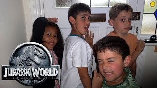 T-Rex Vs Kids: Jurassic World Parody: