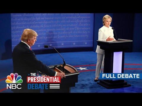 Xxx Mp4 The Third Presidential Debate Hillary Clinton And Donald Trump Full Debate NBC News 3gp Sex