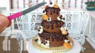 Mini Chocolate drip cake! real edible mini food!