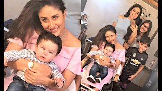 Kareena Kapoor Poses With Taimur Ali Khan At Ad Shoot With Karishma Kapoor