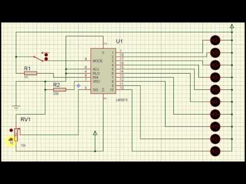 Level indicator circuit (simulation)
