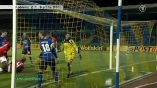 Koblenz - Hertha 2:1 (61 Meter Tor Michael Stahl) DFB Pokal 2010