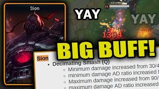 AD Sion is getting BUFFED this patch - League of Legends