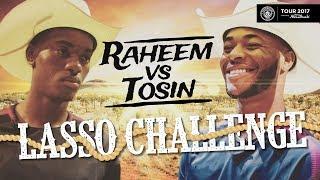 RAHEEM STERLING VS TOSIN | Houston Rodeo Lasso Challenge!