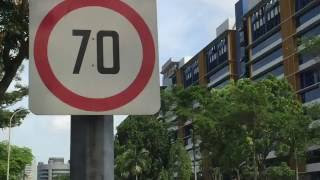 Traffic Signs On Singapore Road