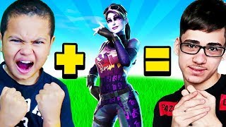 MY LITTLE BROTHER PLAYS LIKE FAZE SWAY OMG!! BEST 10 YEAR OLD ON FORTNITE! HES TOO GOOD!!