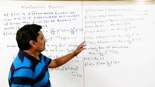 Lecture-1 Maclaurin Expansion and Problems in Hindi