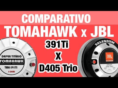 Comparação Driver Tomahawk 391TI x D405 TRIO Mesmo tamanho de reparo Titânio x Fenólico