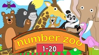 Learn to Count to 20 with Number Zoo   Toddler Fun Learning Collection