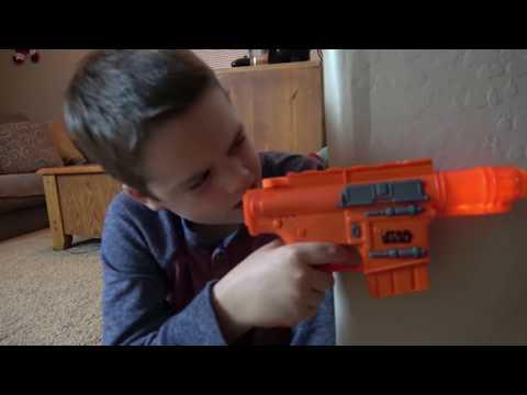 Nerf Gun War Ethan Vs. Cole Extreme Toys TV Battle. Round One Star Wars Nerf Gun Edition