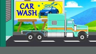 american truck   kids tv channel car wash