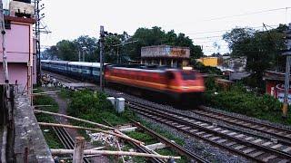 [2 ICF+FREIGHT train's action] Biswabharati+WAP4 & Hool express+WAP7 & Freight+WAG9 | Rasulpur,India