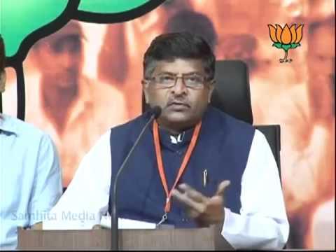 BJP Press: Key Point of Sh. Nitin Gadkari's Speech by Sh. Ravi Shankar Prasad: 30.09.2011