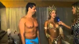 bastidores do carnaval Andressa Urach estreia como rep rter da e apalpa Gil Jung 01 03 2014 mircmirc