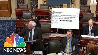 Senator Bernie Sanders Takes Donald Trump Tweet To Senate Floor | NBC News