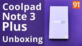 Coolpad Note 3 Plus:Unboxing | Hands on | Price [Hindi]