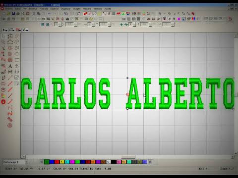 Wilcom diseño de bordados 2012 Letras.