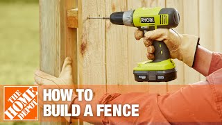 How to Build a Fence Part 2 - The Home Depot