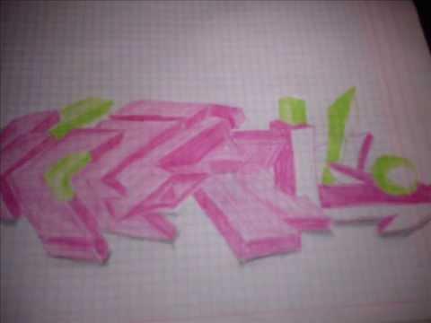 como hacer un graffiti 3D y un wild style pieza