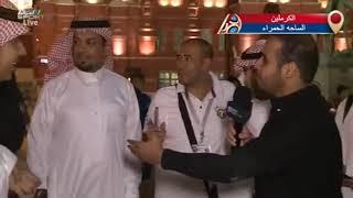 """الجمهور السعودي يوزع الورد و """"الكليجا"""" في الساحة الحمراء في موسكو #المونديال"""