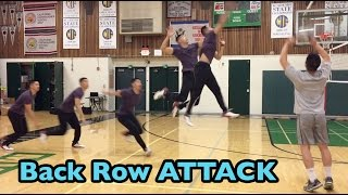Spiking from the BACK ROW (10 foot line / 3 meter line) - How to SPIKE a Volleyball Tutorial