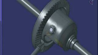CATIA V5 Differential Gear animation
