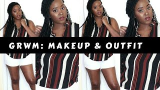 GRWM | Casual Makeup & Outfit
