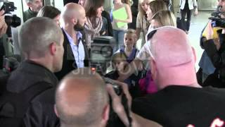 Sofia Coppola arriving with husband and daughters in Cannes airport