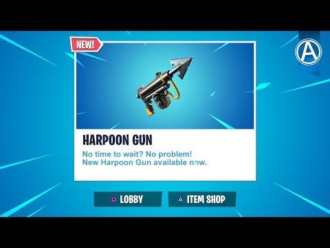 NEW HARPOON GUN Gameplay Update Fortnite Chapter 2 Fortnite Battle Royale LIVE