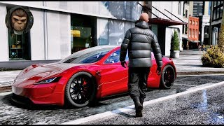► GTA 6 Graphics - Tesla Roadster 2020 ✪ M.V.G.A. - Gameplay! Realistic Graphics MOD PC 60FPS