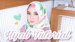 hijab tutorial 15 square printed glow up scarf ayuindriati