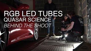 Quasar Science's RGB LED light tubes (Q-Rainbow RGBX lamp) | Behind the shoot