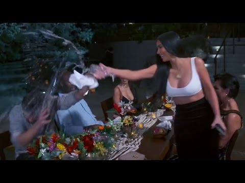 Kim Kardashian Calls Scott Disick A LOSER & Throws Water On Him On KUWTK