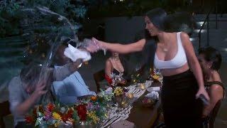 Kim Kardashian Calls Scott Disick A LOSER & Throws Water On Him On KUWTK