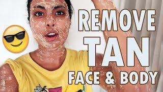 DIY - How To Remove Sun Tan From Face & Body Naturally & Quickly - REALLY WORKS!