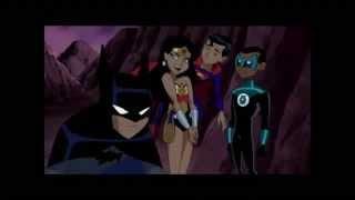 Liga da Justiça Sem Limites Mini-Mulher Maravilha gosta do mini-Batman
