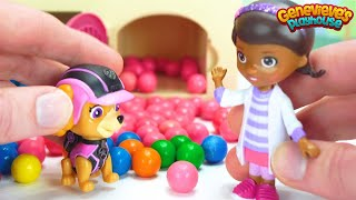 Best Learn Colors for Kids Video - Paw Patrol Pups are Sick - Doc McStuffins helps PawPatrol Pups!
