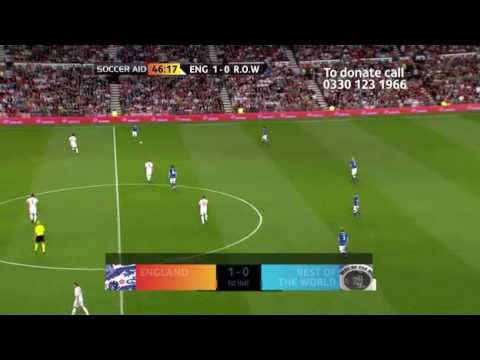 Soccer AID 2010 FULL MATCH england vs rest of the world part5