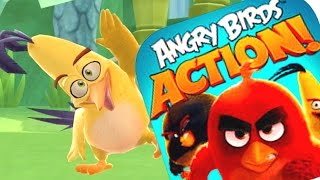 LEVELS 53 - 58 ANGRY BIRDS ACTION GAMEPLAY - Brand New Angry Birds Movie Game (IOS/ANDROID)