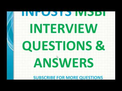 infosys msbi Interview Questions and Answers
