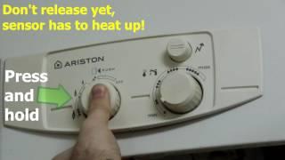 Relighting Pilot Light on Ariston Instant Water Heater