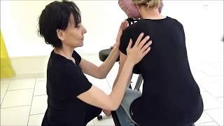 ASMR massage assis • chair massage • brushing sounds