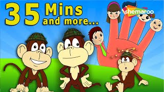 5 little Monkeys & Other Most Popular Nursery Rhymes (HD) | 35 Minutes & more | Shemaroo Kids