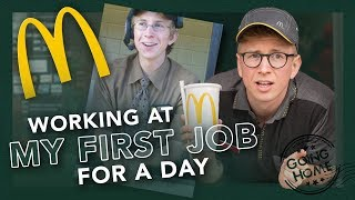 working a day at my first job (McDonalds)