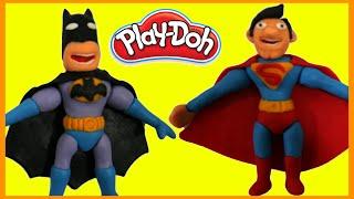 Batman vs Superman Superhero Battle Prank STOP MOTION Play Doh Animation Movie Clips Superheroes
