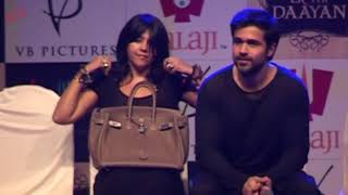 Ekta Kapoor Wardrobe Malfunction at Film Launch